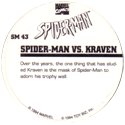 Marvel Comics - Toybiz > Spiderman SM-43-Spider-man-Vs.-Kraven-(back).