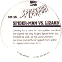 Marvel Comics - Toybiz > Spiderman SM-45-Spider-man-Vs.-Lizard-(back).