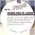 Marvel Comics - Toybiz > Spiderman SM-45-Spider-man-Vs.-Lizard-(back).