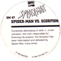 Marvel Comics - Toybiz > Spiderman SM-47-Spider-man-Vs.-Scorpion-(back).