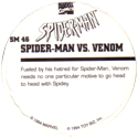Marvel Comics - Toybiz > Spiderman SM-48-Spider-man-Vs.-Venom-(back).