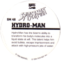 Marvel Comics - Toybiz > Spiderman SM48-Hydro-man-(back).