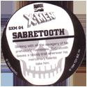 Marvel Comics - Toybiz > X-Men (Skull back) SXM-04-Sabretooth-(back).