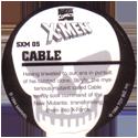 Marvel Comics - Toybiz > X-Men (Skull back) SXM-05-Cable-(back).
