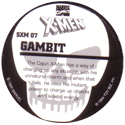 Marvel Comics - Toybiz > X-Men (Skull back) SXM-07-Gambit-(back).