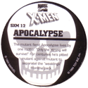 Marvel Comics - Toybiz > X-Men (Skull back) SXM-12-Apocalypse-(back).