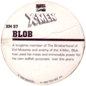 Marvel Comics - Toybiz > X-Men XM-57-Blob-(back).