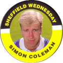 Merlin Magicaps > Premier League 95 213-Sheffield-Wednesday-Simon-Coleman.