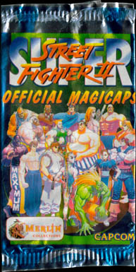 Merlin Magicaps > Super Streetfighter II pack etc. Packet-front.