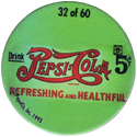 Metro Milk Caps > Pepsi-Cola 32-Drink-Pepsi-Cola-5¢-Refreshing-and-Healthful.