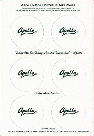 Apollo Collectible Art Caps Back.
