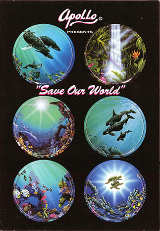 Apollo Collectible Art Caps Save-Our-World.