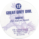 Cadbury Birds of Prey Flip-em's 12-Great-Grey-Owl-(back).