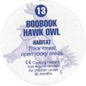 Cadbury Birds of Prey Flip-em's 13-Boobook-Hawk-Owl-(back).