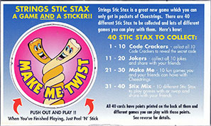 Cheestrings Stic Stax 29-Make-Me-Twist.