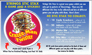 Cheestrings Stic Stax 40-Crazee-Man-Twister.