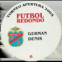 Futbol Redondo - Torneo Apertura 2005 006-008-back-Arsenal-Fútbol-Club.