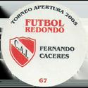 Futbol Redondo - Torneo Apertura 2005 067-075-back-Club-Atlético-Independiente.