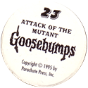 Goosebumps Scaredy-Caps Back.