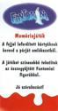 Kinder Meglepetés Fantomini Card-back.