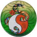 Laser Caps > Yin-yangs & 8-balls Snake-with-rose-going-through-yin-yang.