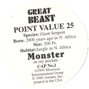Monster in my pocket 01-Great-Beast-(back).