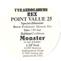 Monster in my pocket 06-Tyrannosaurus-Rex-(back).