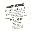 Monster in my pocket 14-Manticore-(back).