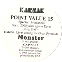 Monster in my pocket 15-Karnak-(back).