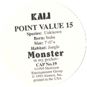 Monster in my pocket 19-Kali-(back).