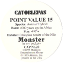 Monster in my pocket 20-Catoblepas-(back).