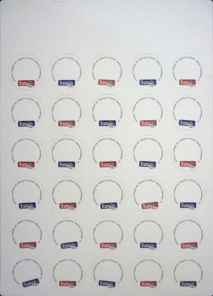 NFL Team Caps 1995 Edition Backs.