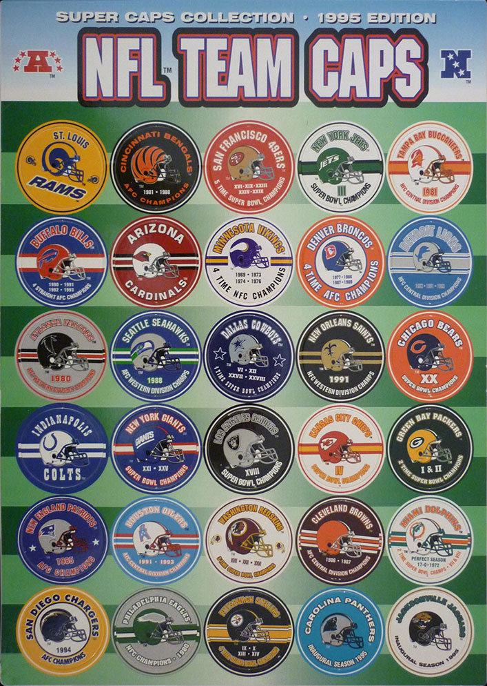 NFL Team Caps 1995 Edition NFL-Team-Caps.