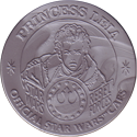Official Star Wars Caps Slammers Princess-Leia-(Silver).