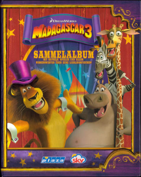Plaza Sky Madagascar 3 Shooters Packet etc. Album.