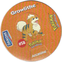 Pokémon Danone 10-Growlithe.