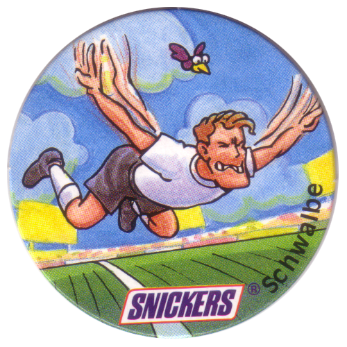 Snickers Lustige Fußball-tricks 26-Schwalbe.