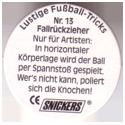 Snickers Lustige Fußball-tricks 13-Fallrückzieher-(back).