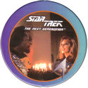 Star Trek: The Next Generation 36-Lt.-Worf,-Dr.-Crusher,-Birthday-Cake-for-Worf.