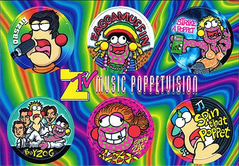 Zig + Zag Zooms ZTV-Music-Poppetvision.