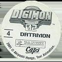 Panini Caps > Digimon Back.