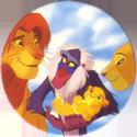 Panini Caps > Lion King 36-Simba,-Nala,-Rafiki,-and-baby.