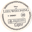 Panini Caps > Lion King Back-(Dutch).