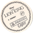 Panini Caps > Lion King Back-(English).