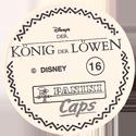 Panini Caps > Lion King Back-(German).