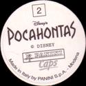 Panini Caps > Pocahontas Back.