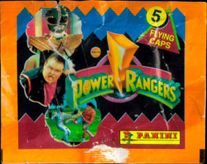 Panini Caps > Power Rangers Flying Caps Pack Packet-front.
