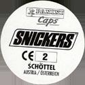 Panini Caps > Snickers Euro 96 - Austria Back.