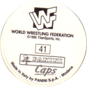 Panini Caps > World Wrestling Federation (WWF) Back.