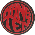 Pro Caps > Pounders Hang-Ten-Black-Red.